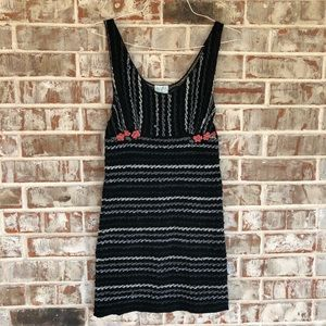 Free People Worsted Wool Knitted Yarn Lace Dress S